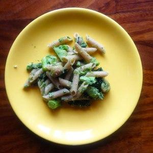 pasta broccoli and chestnut yoga