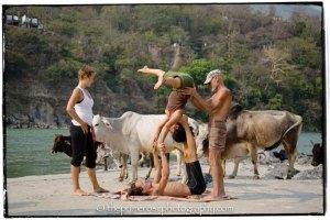 Yoga-class-along-the-Ganges-Rishikesh-India-theprimerose-photography-by-Rosa-Tagliafierro