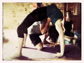 Myself in urdhva dhanurasana
