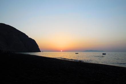 Sunrise in Perissa