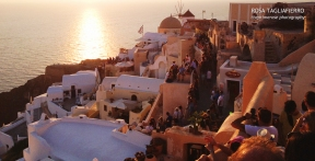 Sunset in Oia... with a few others