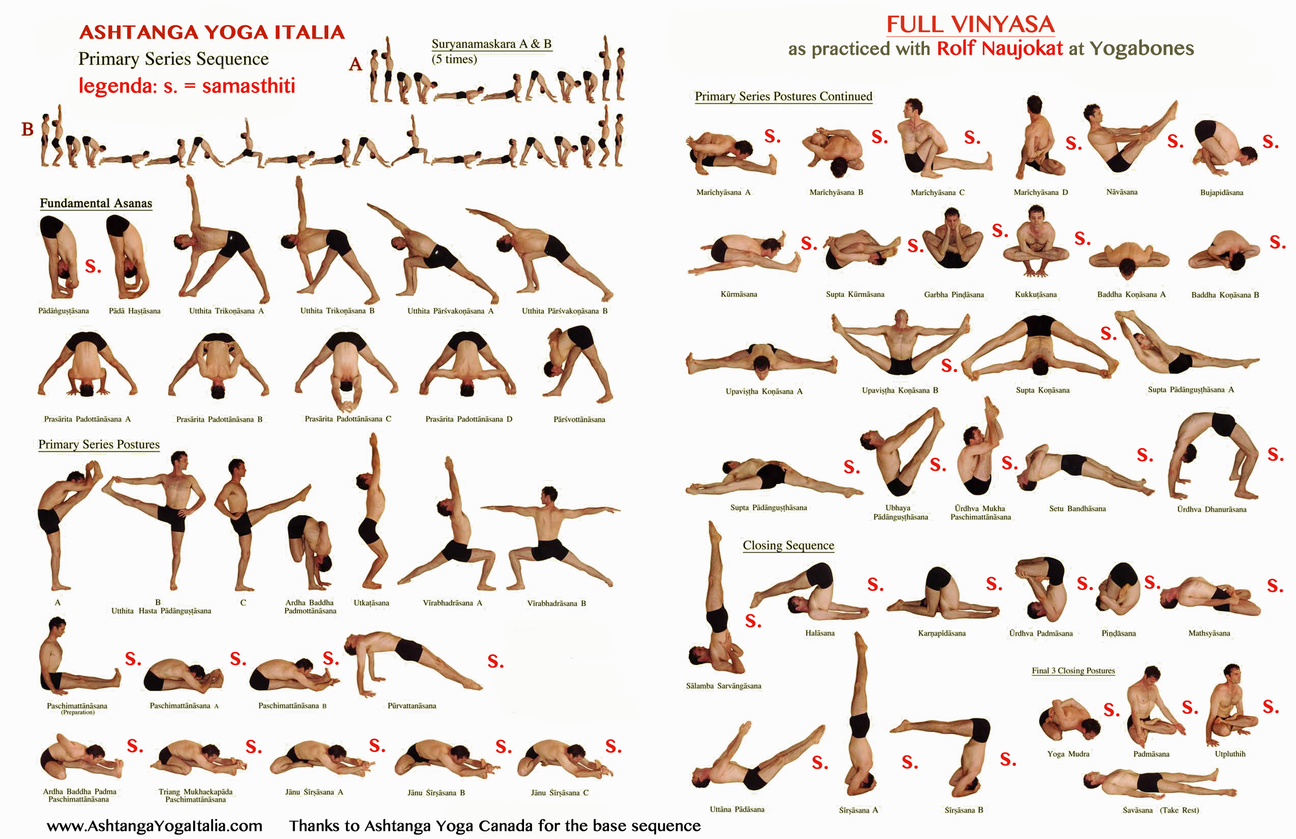 FULL VINYASA, AS PRACTICED WITH ROLF NAUJOKAT | Ashtanga Yoga Italia