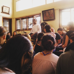 Rosa-Tagliafierro-ashtanga-yoga-italia-milano-Sharath-Jois-in-Conference-Mysore