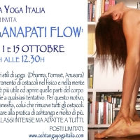24 SET, 1 OTT, 15 OTT 2017:  CLASSI SPECIALI con Rosa Tagliafierro. 'GANAPATI FLOW'.