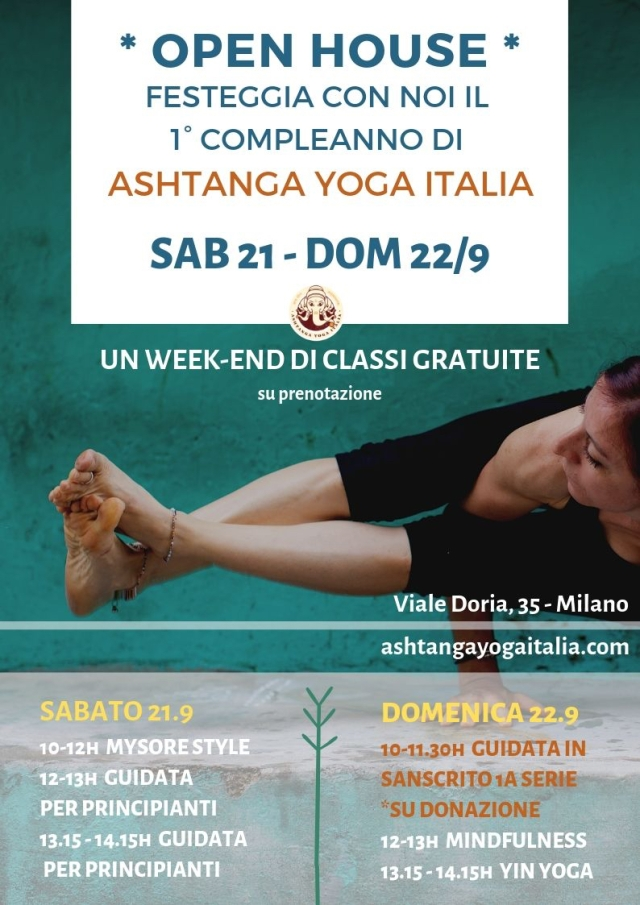 Open House & 1st BIRTHDAY PARTY @ ASHTANGA YOGA ITALIA-1