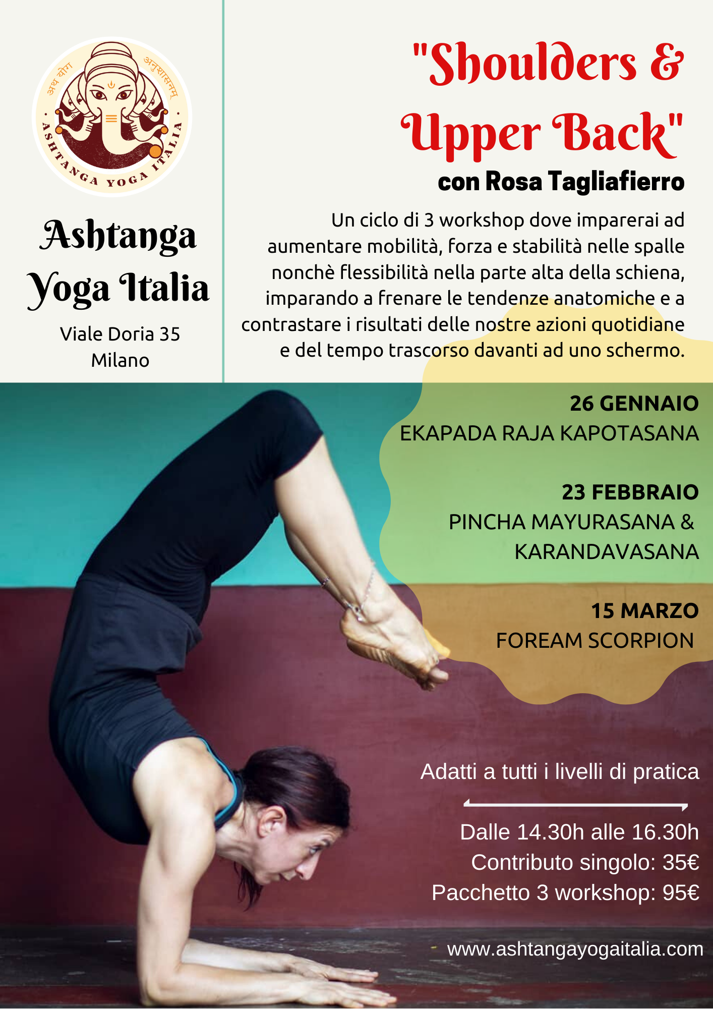Teal Gradient Introduction to Yoga Fitness Flyer